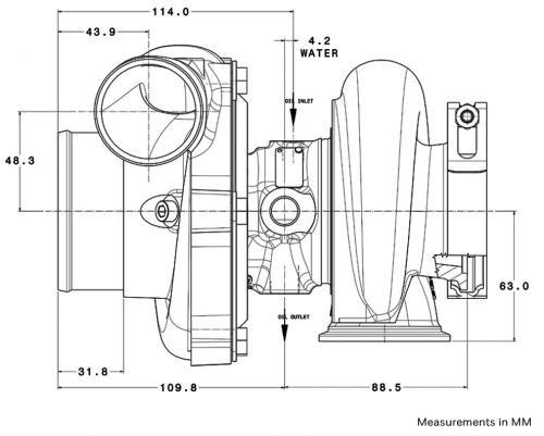 Garrett Gen II GTX2860R Diagram