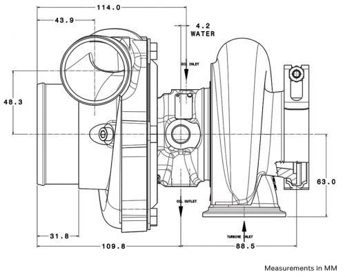 Garrett Gen II GTX2867R Diagram