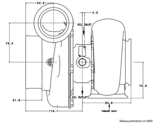 Garrett Gen II GTX3584RS Diagram